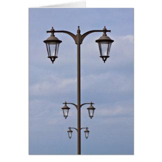 Street lantern greeting card