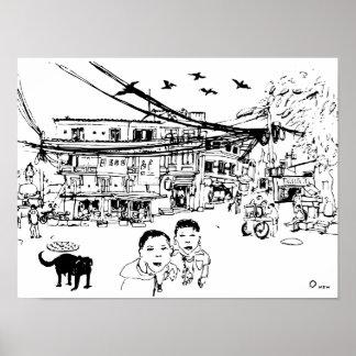 Street of Kathmandu Poster