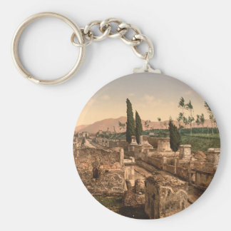 Street of the Tombs, Pompeii, Campania, Italy Key Ring