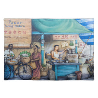 Street painting placemat