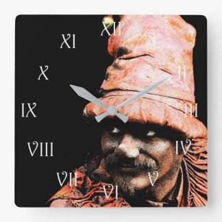 Street Performance 2 Wall Clock with RomanNumerals