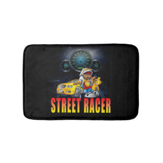 STREET RACER WAITING HIS NEXT RACE BATH MAT