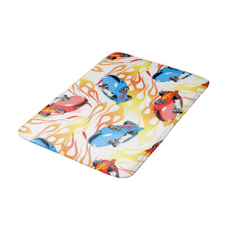 Street racing bath mat