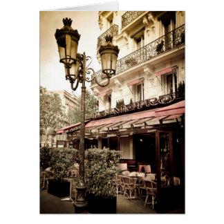 Street restaurant, Paris, France Card