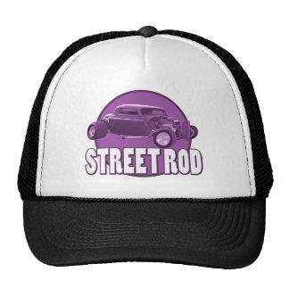 street rod circle purple cap