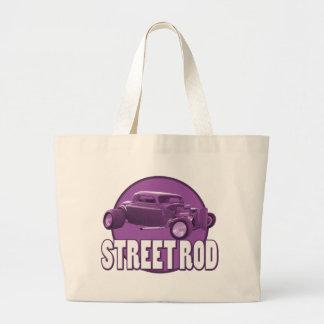 street rod circle purple jumbo tote bag