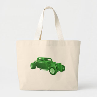 street rod green money jumbo tote bag