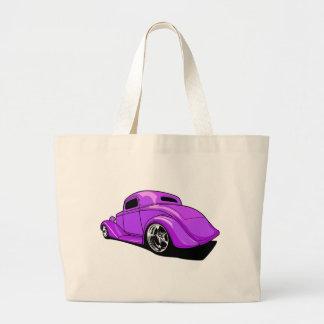 Street Rod Purple Canvas Bags