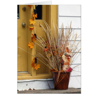 Street Scene - Autumn Card
