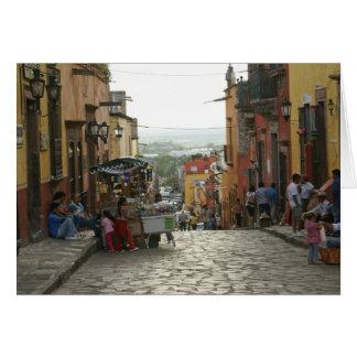 Street Scene Central San Miguel de Allende Card