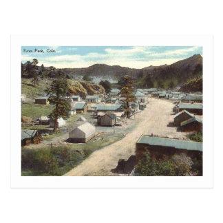 Street Scene, Elkhorn Ave., Estes Park CO Vintage Postcard