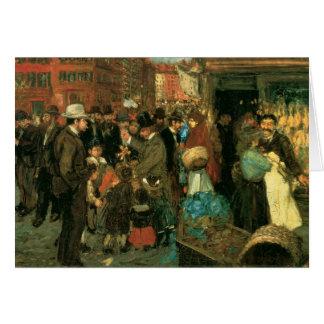 Street Scene, Hester Street, New York c. 1905 Card