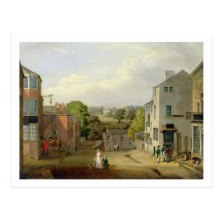 Street Scene in Chorley, Lancashire, with a View o Postcard