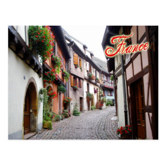 Street scene in Eguisheim, France Postcard