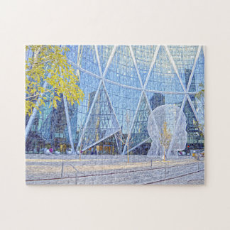 Street Sculpture Calgary. Jigsaw Puzzle