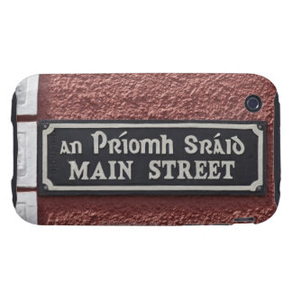 Street sign in Gaelic and English at Main iPhone 3 Tough Cases