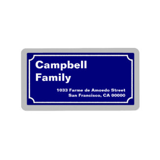 street sign personalized new address label