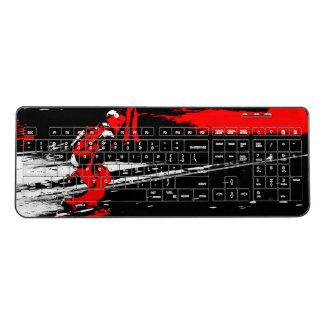 Street Skater  -  Skateboarder Wireless Keyboard