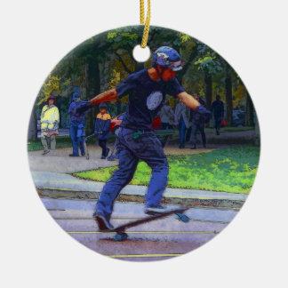 Street Skating  -  Skateboarder Ceramic Ornament