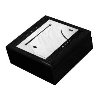 Street Snow Scenes - Abstract, minimalist art-deco Large Square Gift Box