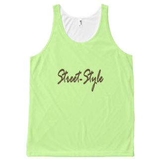 Street-Style All-Over Print Tank Top