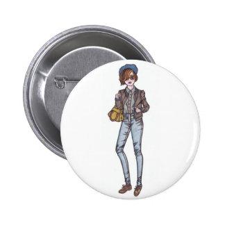 street style 6 cm round badge