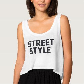 street style flowy crop tank top