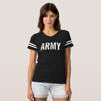 Street Style Womens Model T-shirts ARMY