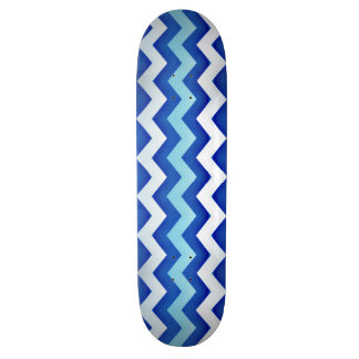 Street Surfer Blue Wave Design Skateboard 2