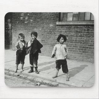 Street urchins in Lambeth b w photo Mousepads