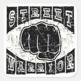 street warrior square sticker
