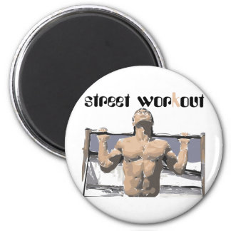 Street workout and Fitness for you. 6 Cm Round Magnet