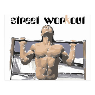 Street workout and Fitness for you. Postcard