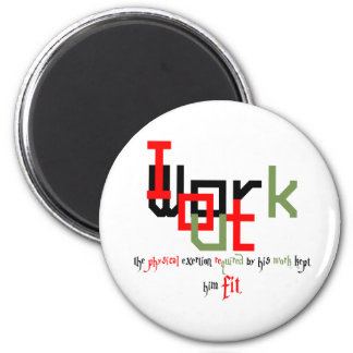 Street workout or Fitness. 6 Cm Round Magnet