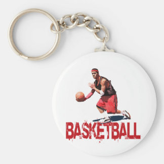 Streetball Dribble Key Chain