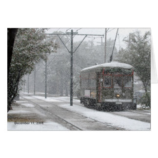 Streetcar New Orleans, December 11, 2008 Card