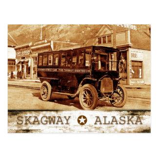 Streetcar on Broadway Ave., Skagway, Alaska Postcard
