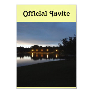 Streetlights Reflecting on the Lake Custom Announcement
