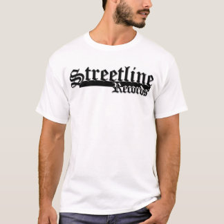 Streetline Records T- Black Trim T-Shirt