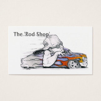 Streetrod Cartoon Automotive Business Cards