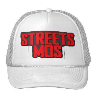 Streets Mos Paint Logo Trucker Cap (White)