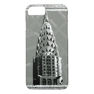 Streets of New York with Empire State Building iPhone 8/7 Case