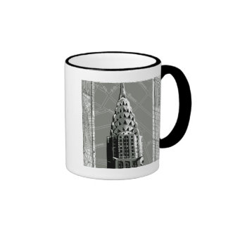 Streets of New York with Empire State Building Ringer Mug