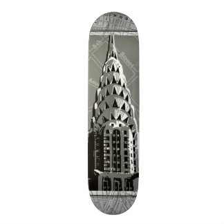 Streets of New York with Empire State Building 21.6 Cm Skateboard Deck