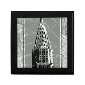 Streets of New York with Empire State Building Small Square Gift Box
