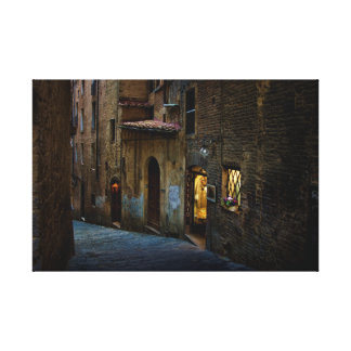 Streets of Siena Canvas Print
