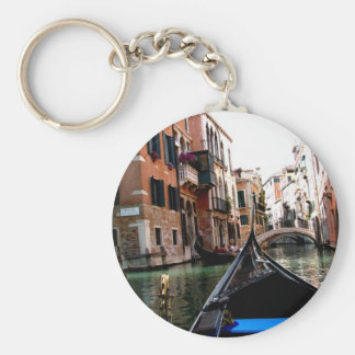 Streets of Venice Basic Round Button Key Ring