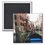 Streets of Venice Square Magnet