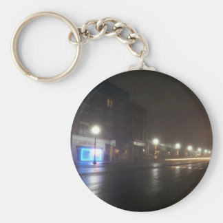 Streetscape IV  - Greenfield as Paris Key Chain