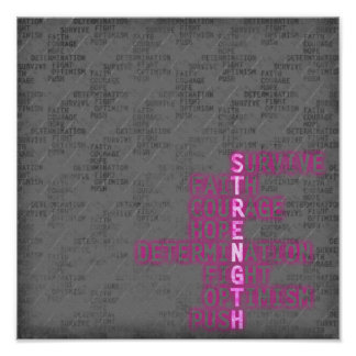 Strength,  Breast Cancer Awareness Poster